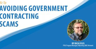 Banner Graphic: Avoiding Government Contracting Scams
