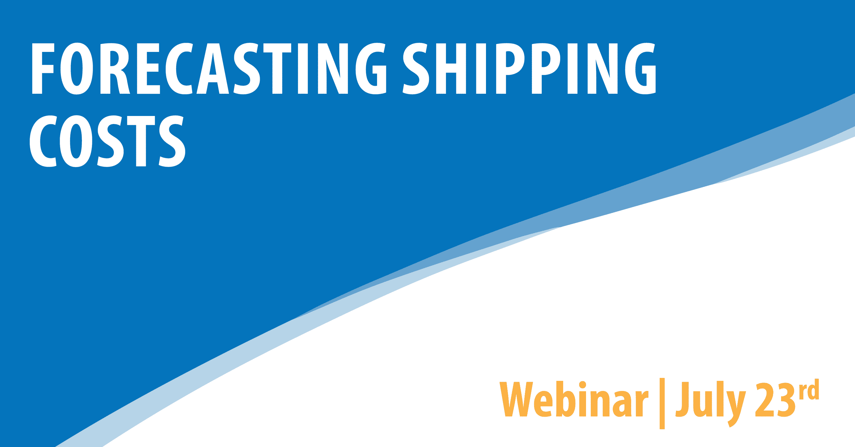 Forecasting Shipping Costs