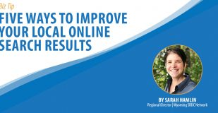 Banner Graphic: Five Ways to Improve Your Local Online Search Results
