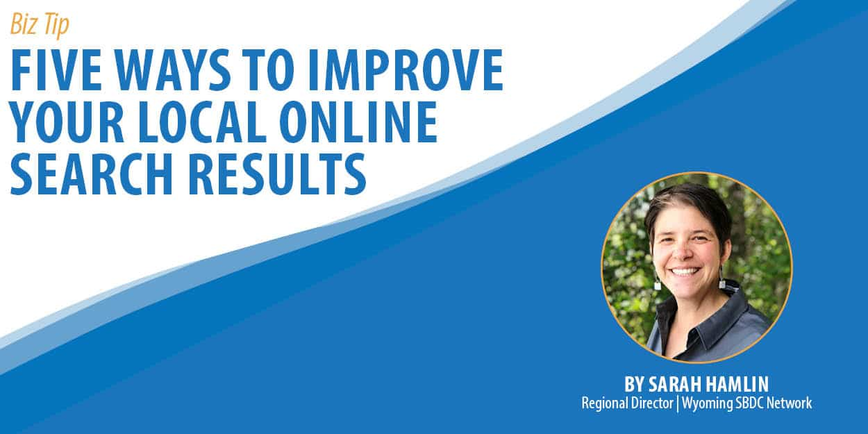 Five Ways to Improve Your Local Online Search Results