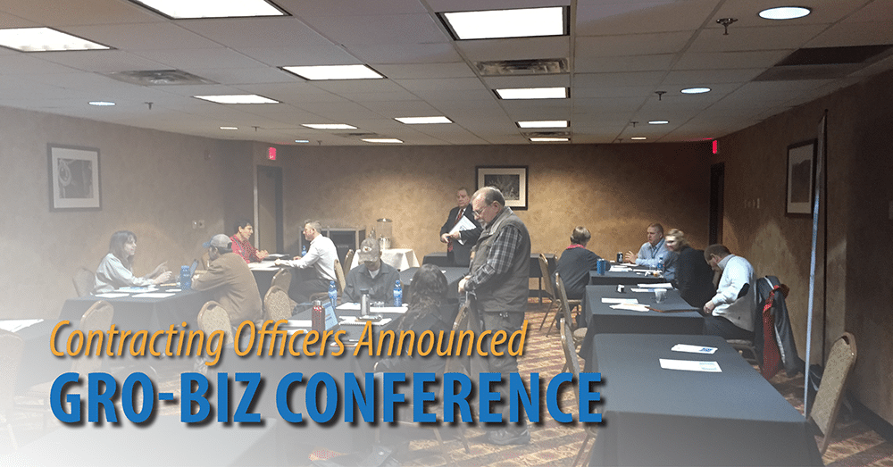 GRO-Biz Conference Contracting Officers Announced