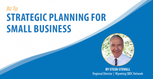 Biz Tip: Strategic Planning for Small Business. By Steen Stovall, Regional Director, Wyoming SBDC Network.