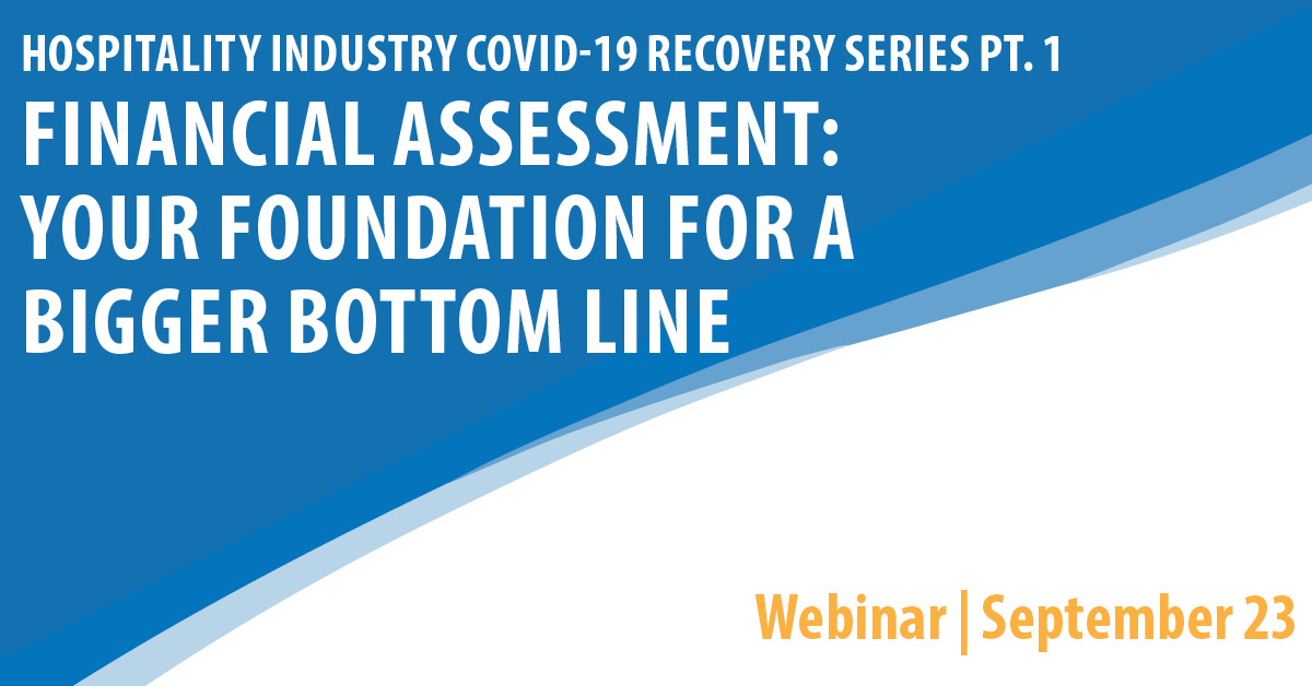 COVID 19 Recovery for the Hospitality Industry Webinar Series Part 1