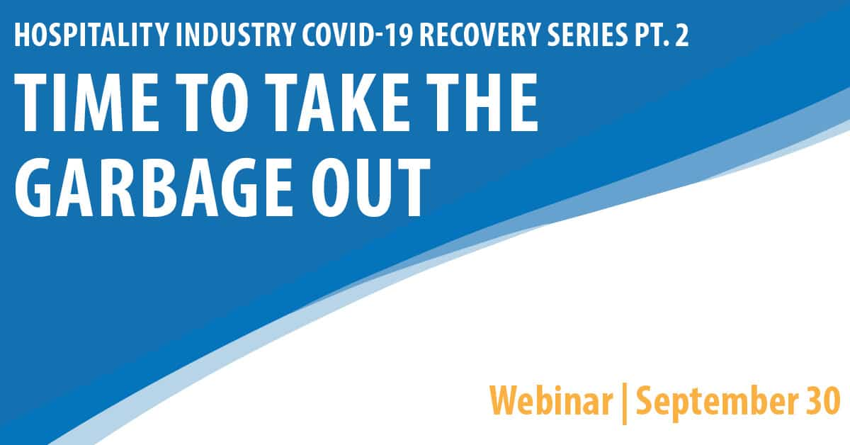 COVID 19 Recovery for the Hospitality Industry Webinar Series Part 2