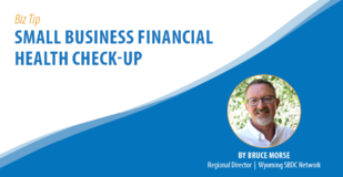Biz Tip: Small Business Financial Health Check-Up. By Bruce Morse, Regional Director, Wyoming SBDC Network.