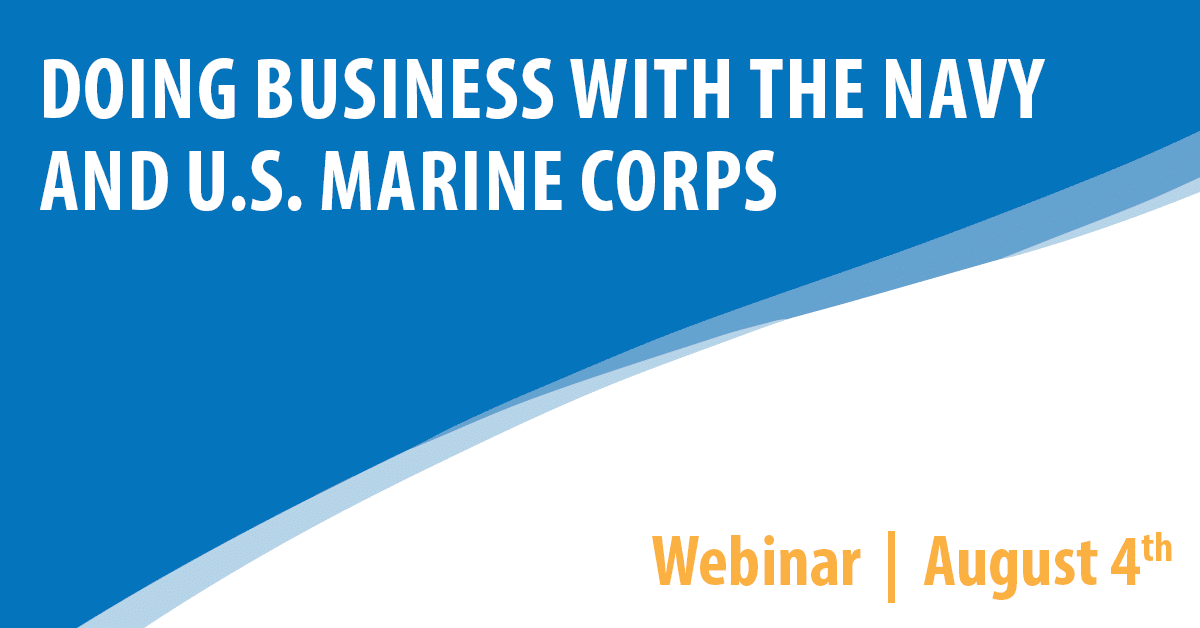 Doing Business with the Navy and U.S. Marine Corps.