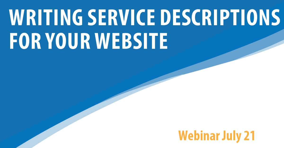 Writing Service Descriptions for Your Website
